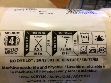 Image result for yarn size on the yarn label